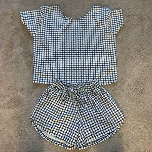 Other - Grid Short and Shirt SET